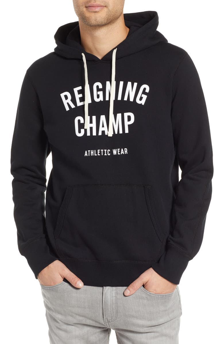 REIGNING CHAMP Gym Logo Hooded Sweatshirt, Main, color, 003