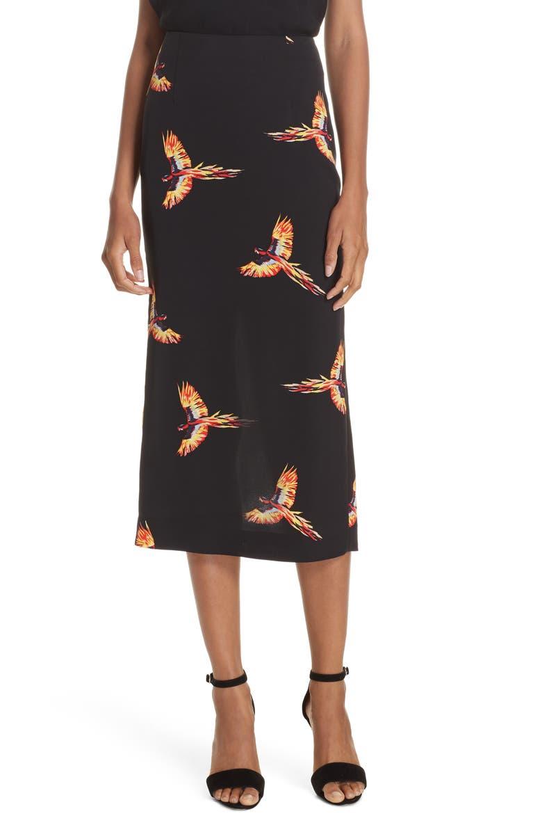 DVF Diane von Furstenberg Tailored Midi Pencil Skirt, Main, color, 001