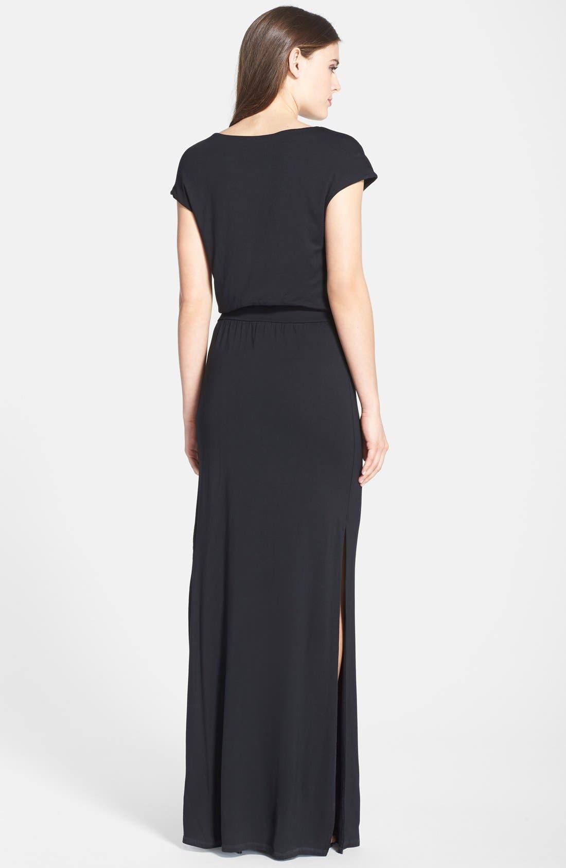 ,                             'Vienna' Blouson Maxi Dress,                             Alternate thumbnail 2, color,                             001