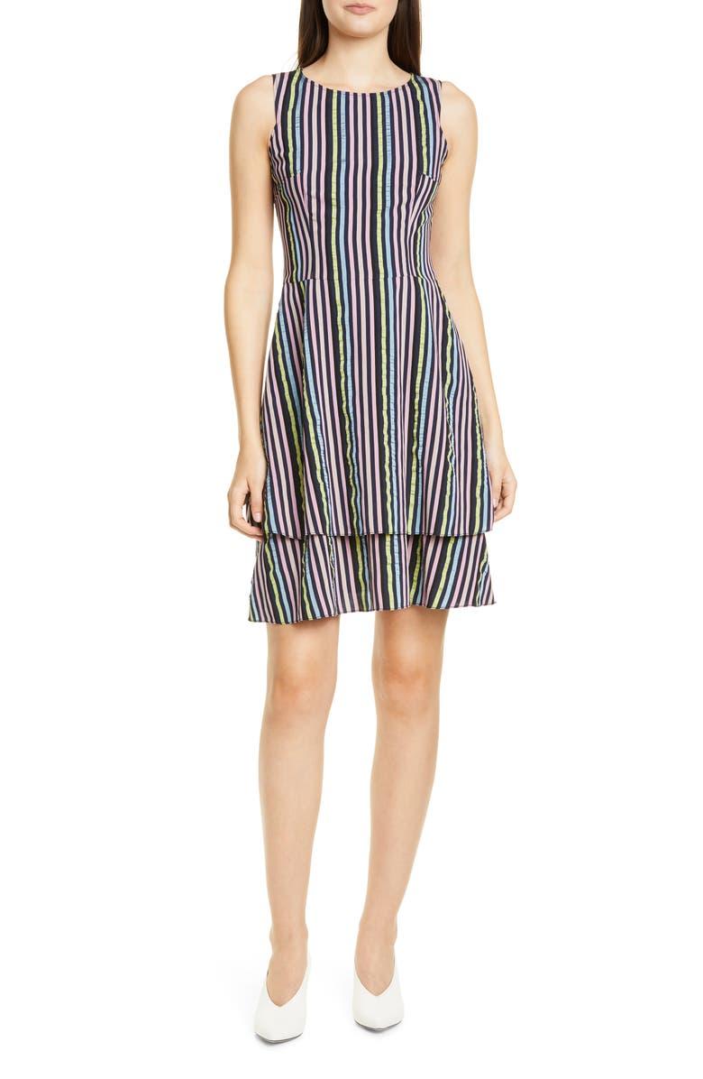 HUGO Kalomi Fit & Flare Dress, Main, color, OPEN MISCELLANEOUS