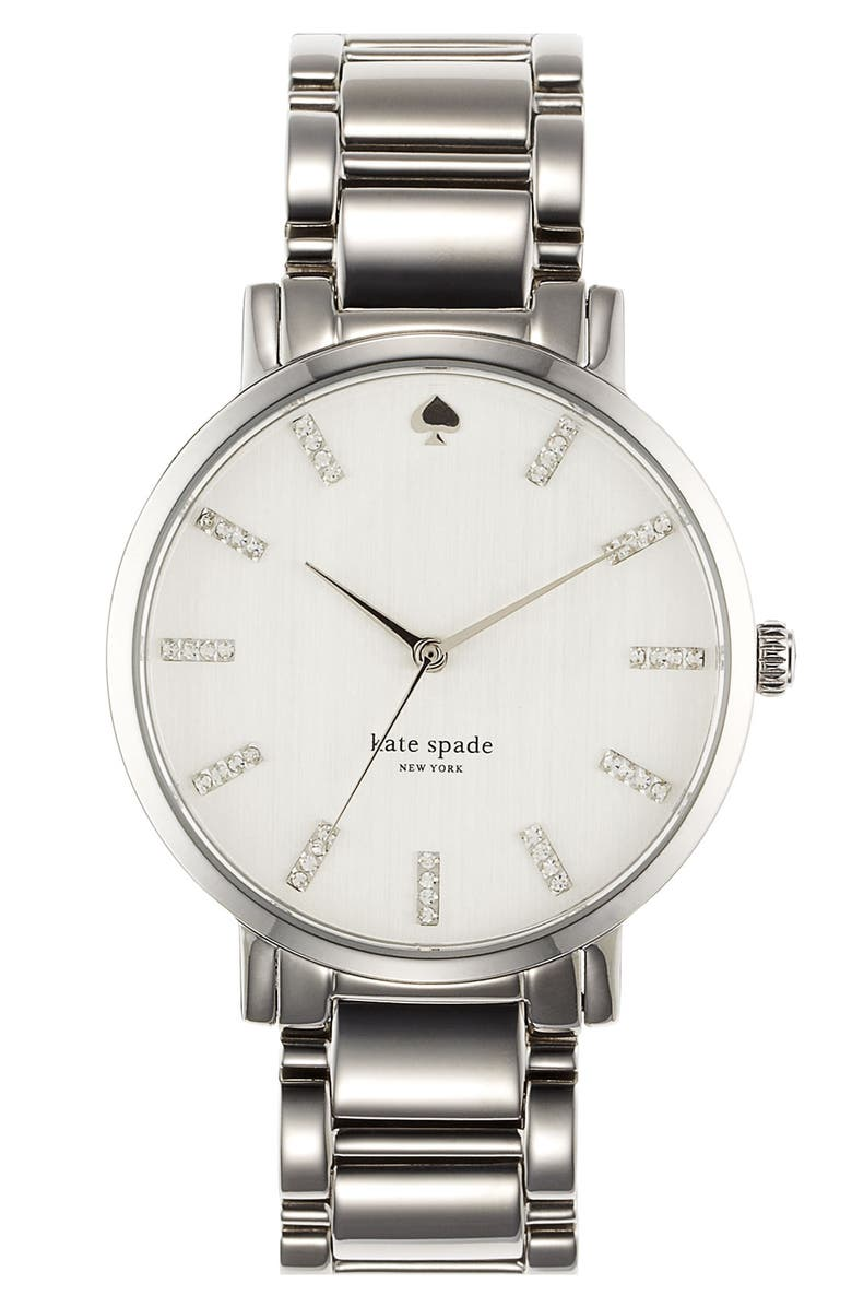 KATE SPADE NEW YORK 'gramercy' round bracelet watch, 38mm, Main, color, 040