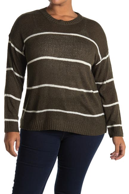 Image of Bobeau Long Sleeve Striped Sweater