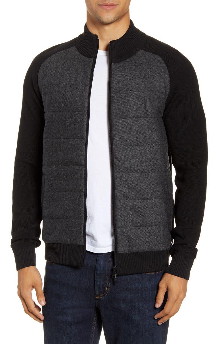 BRAX Joris Fancy Hybrid Jacket, Main, color, 02-BLACK