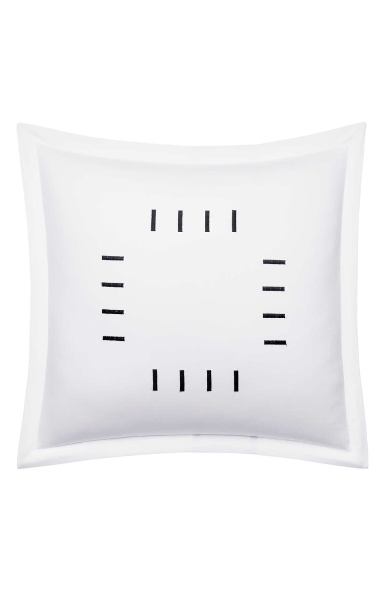 VERA WANG Embroidered Bar Cotton Accent Pillow, Main, color, 100
