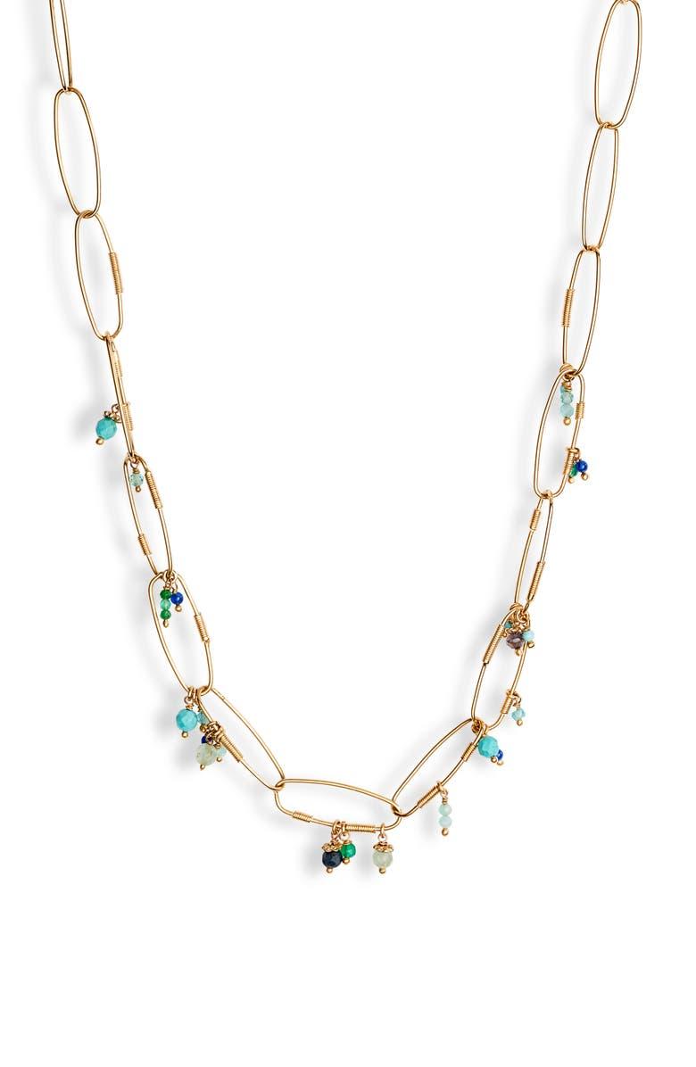 GAS BIJOUX Cocoa Charm Necklace, Main, color, 300