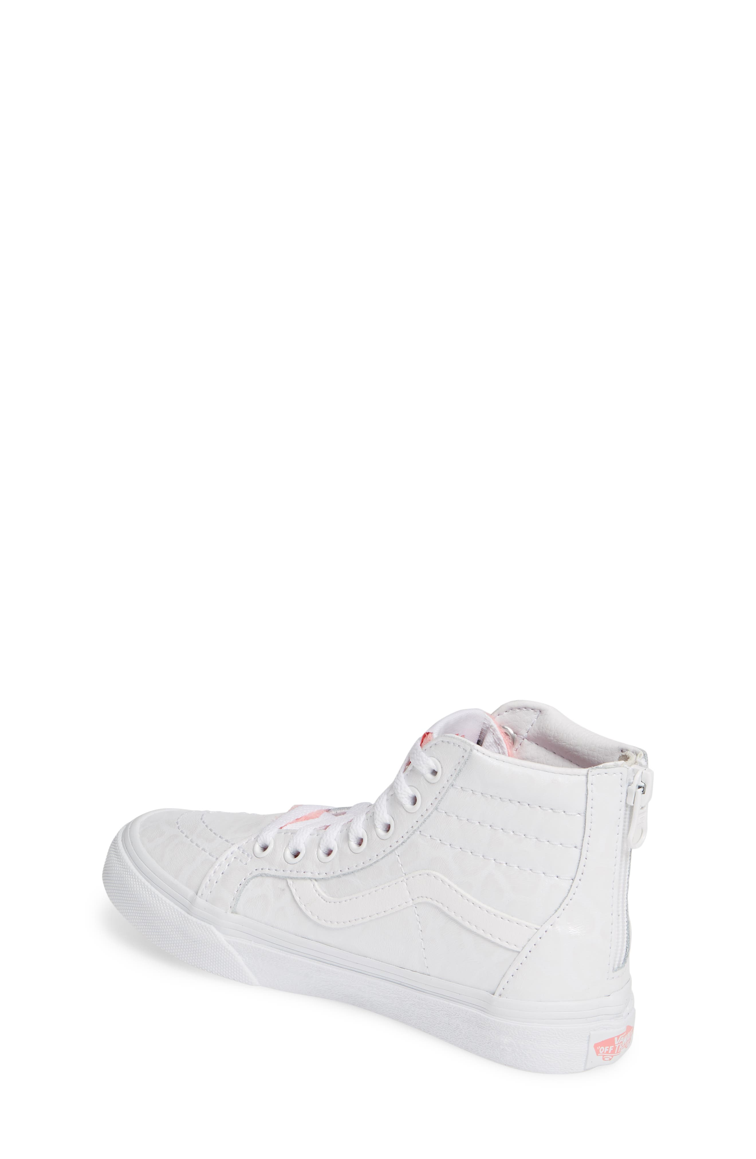 ,                             SK8-Hi Zip Leather & Faux Fur Sneaker,                             Alternate thumbnail 2, color,                             WHITE GIRAFFE TRUE WHITE/ PINK