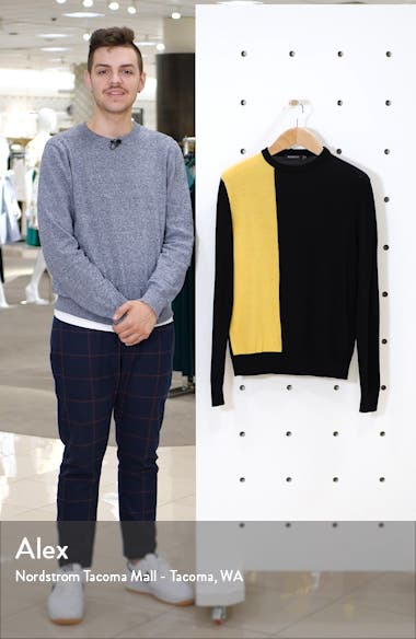 Colorblock Wool Blend Sweater, sales video thumbnail