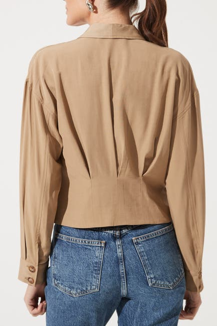 Image of ASTR the Label Pleated Cropped Jacket