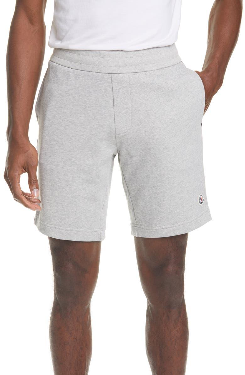 MONCLER Corto Fleece Sweat Shorts, Main, color, 021