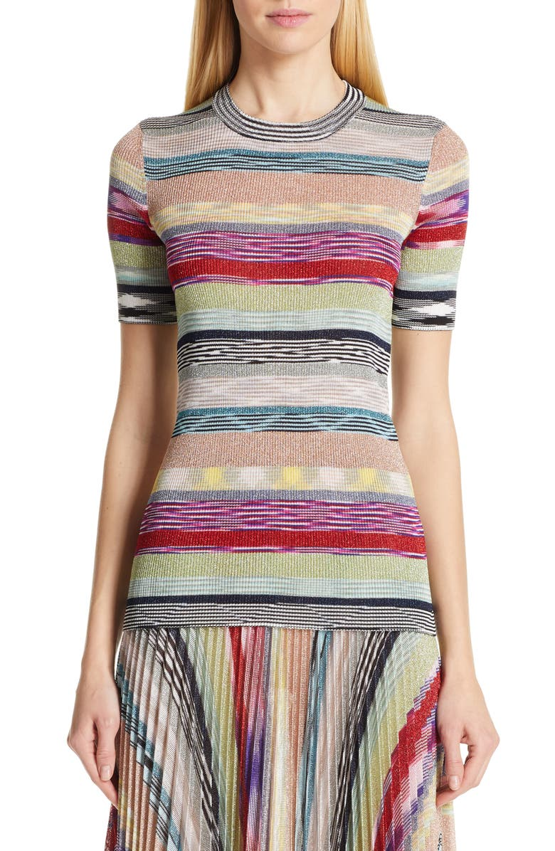 Missoni Metallic Stripe Sweater