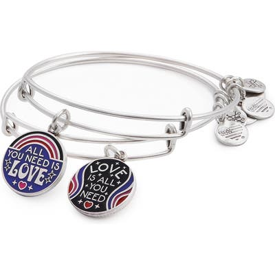 Alex And Ani All You Need Is Love Set Of 2 Expandable Wire Bangles