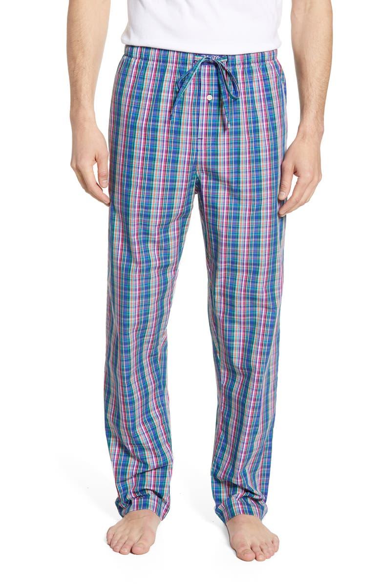 POLO RALPH LAUREN Classic Cotton Pajama Pants, Main, color, BARTON PLAID