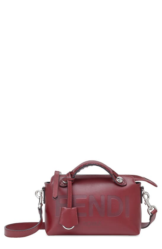 Fendi Mini By The Way Leather Crossbody Bag In Barolo/p