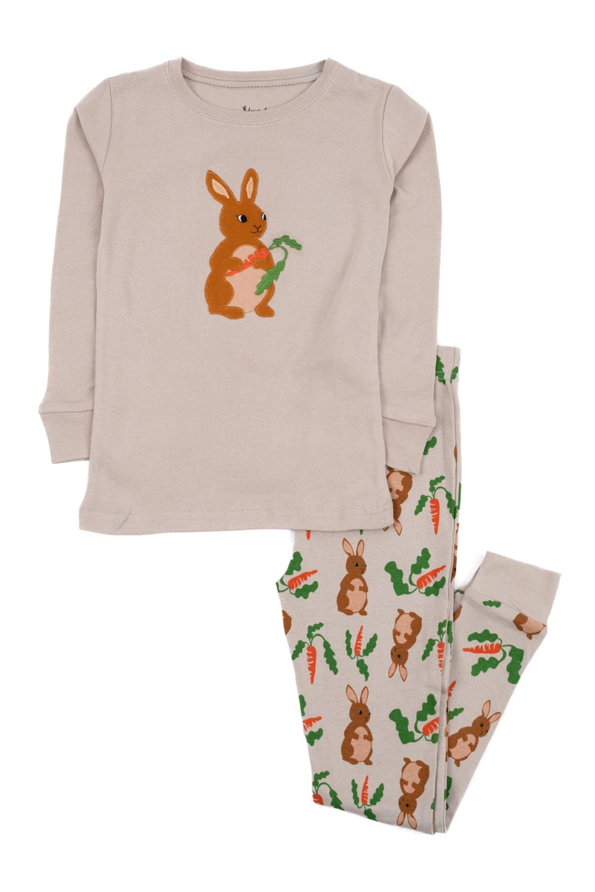 Image of Leveret 2-Piece Rabbit Cotton Pajama Set