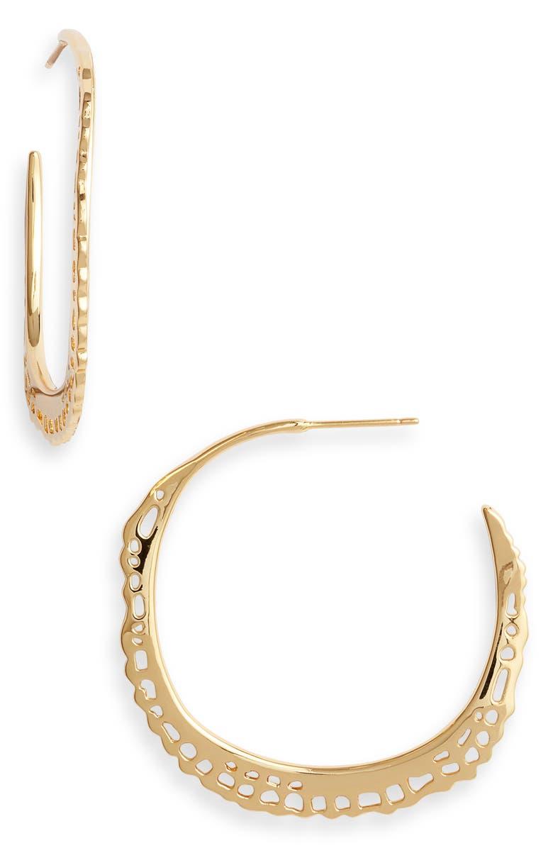 GORJANA Gia Hoop Earrings, Main, color, GOLD