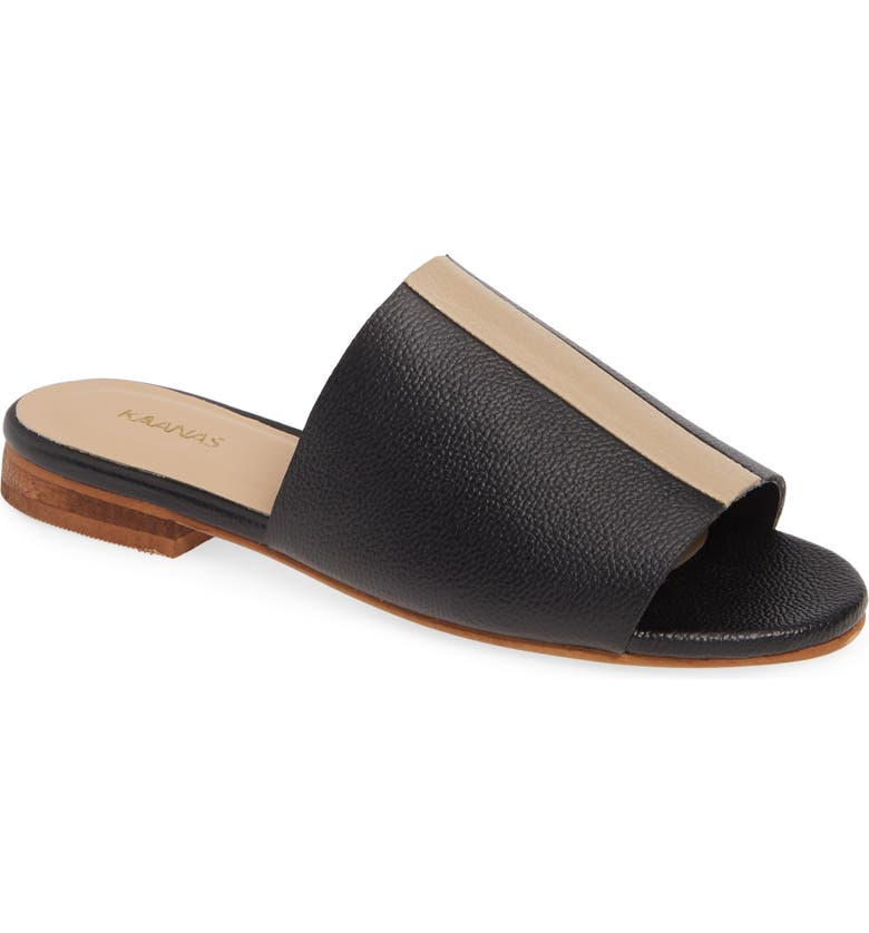 KAANAS Sedef Colorblock Slide Sandal, Main, color, 001