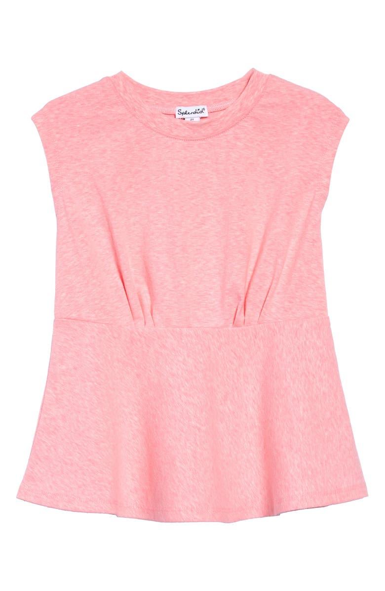 SPLENDID Mélange Slub Jersey Dress, Main, color, BAREFOOT PINK