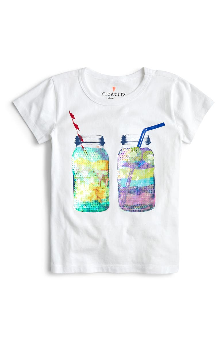 CREWCUTS BY J.CREW Smoothie Flippable Sequins Tee, Main, color, 020