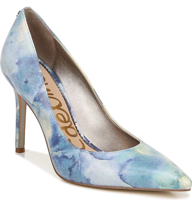 SAM EDELMAN Hazel Pointy Toe Pump, Main, color, BLUE MULTI LEATHER
