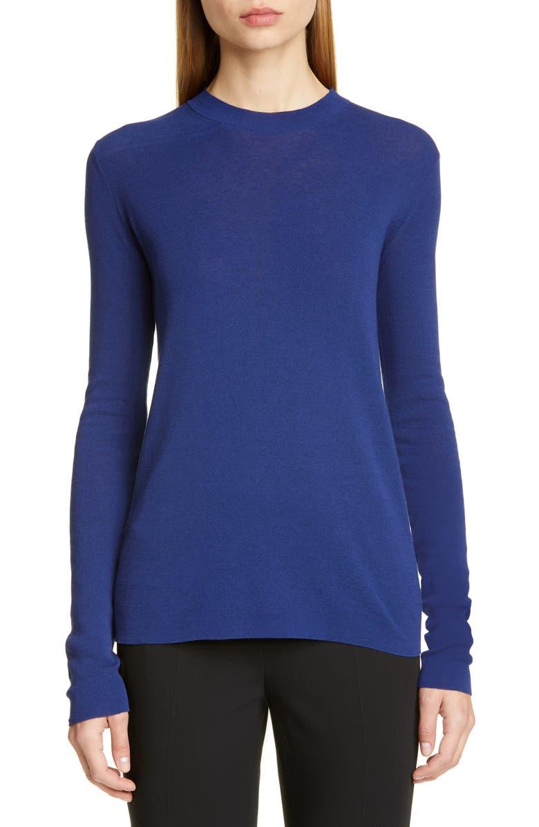 MANSUR GAVRIEL Mock Neck Cotton Sweater, Main, color, 400