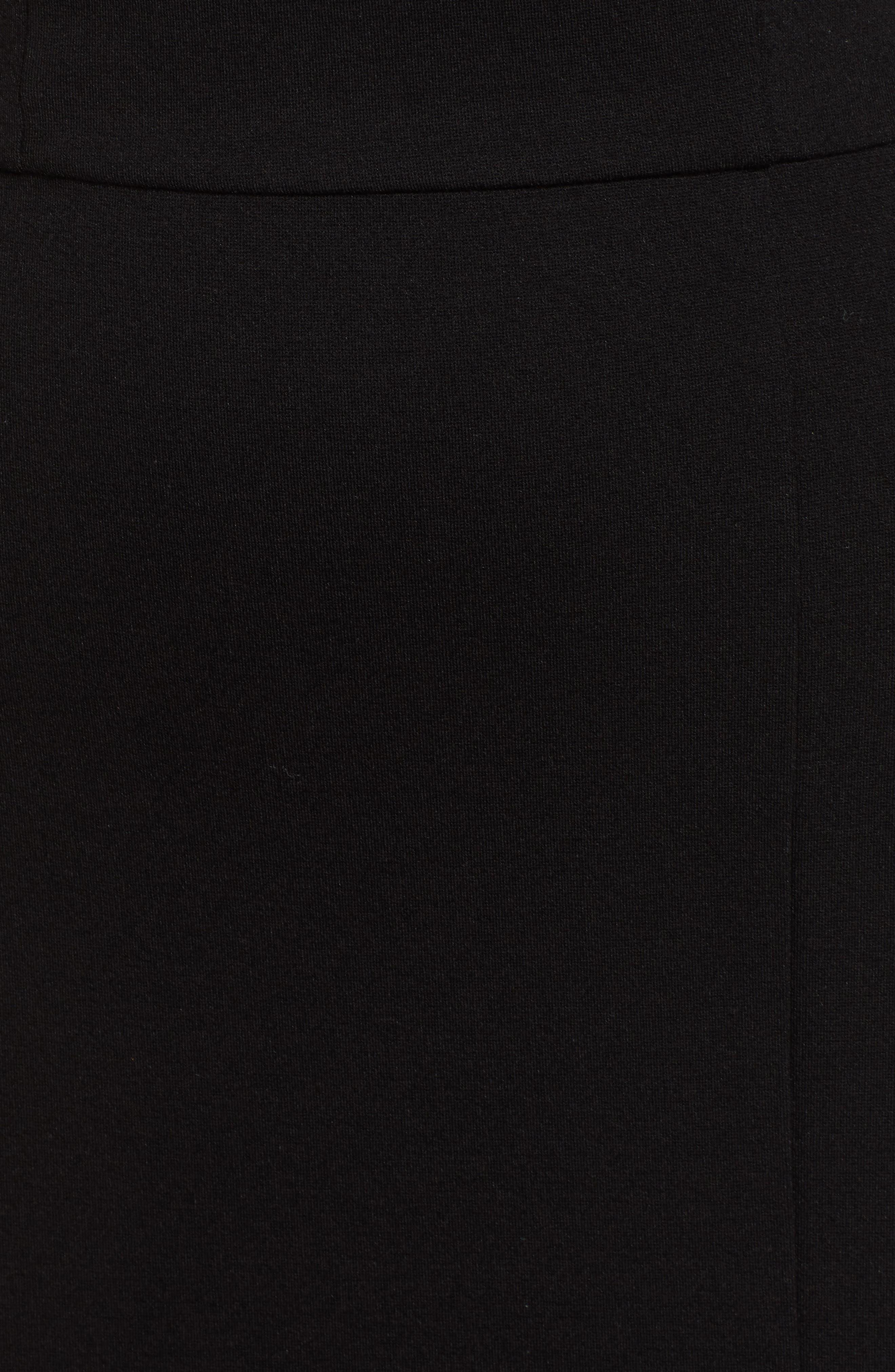 ,                             V-Neck Body-Con Dress,                             Alternate thumbnail 5, color,                             BLACK