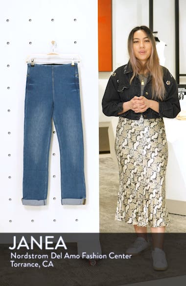 Boyfriend High Rise Denim Leggings, sales video thumbnail