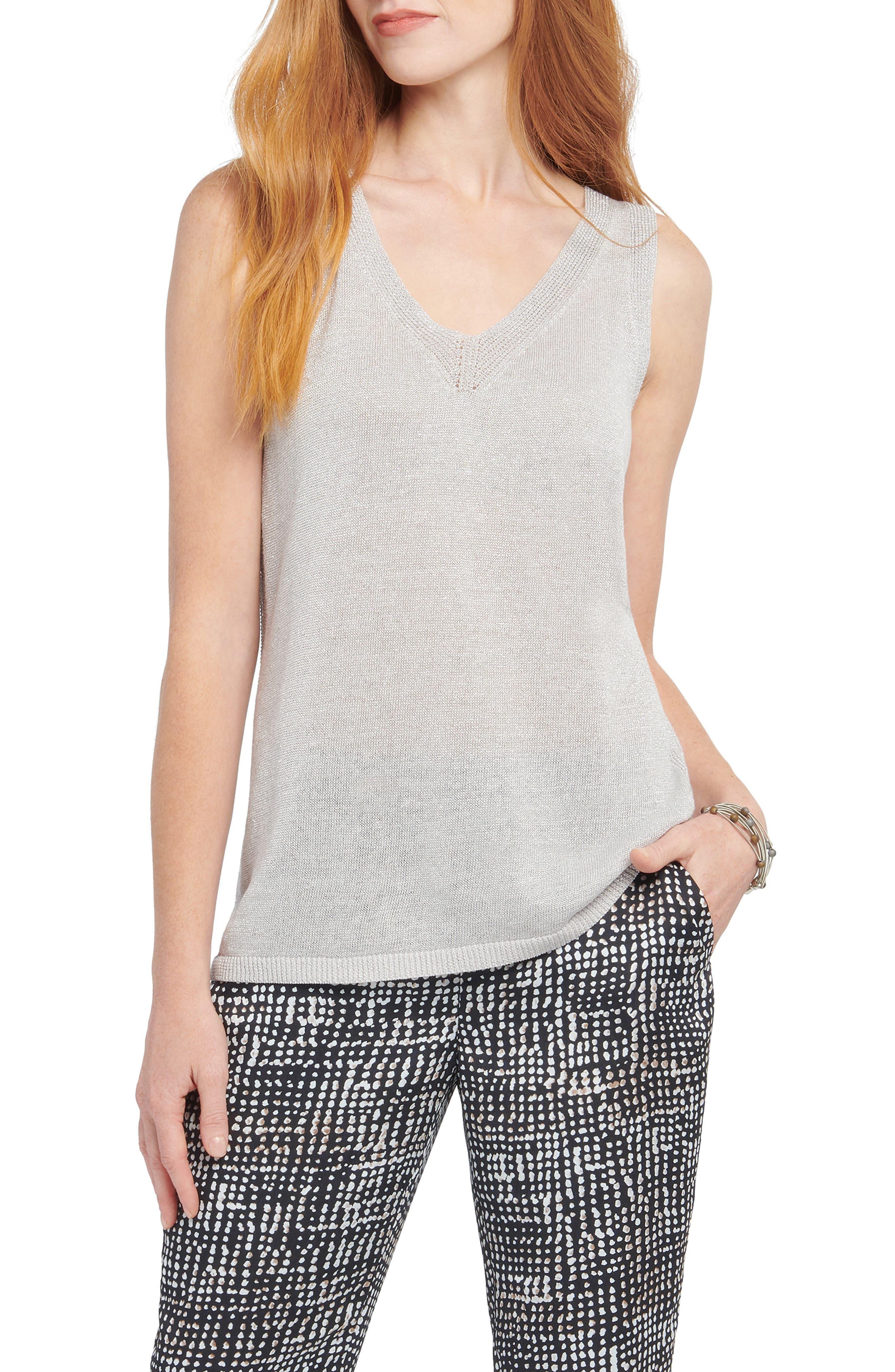 Image of NIC+ZOE Primrose Linen Blend Sweater Tank Top