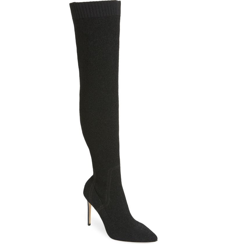 PAIGE Jessamine Over the Knee Boot, Main, color, BLACK