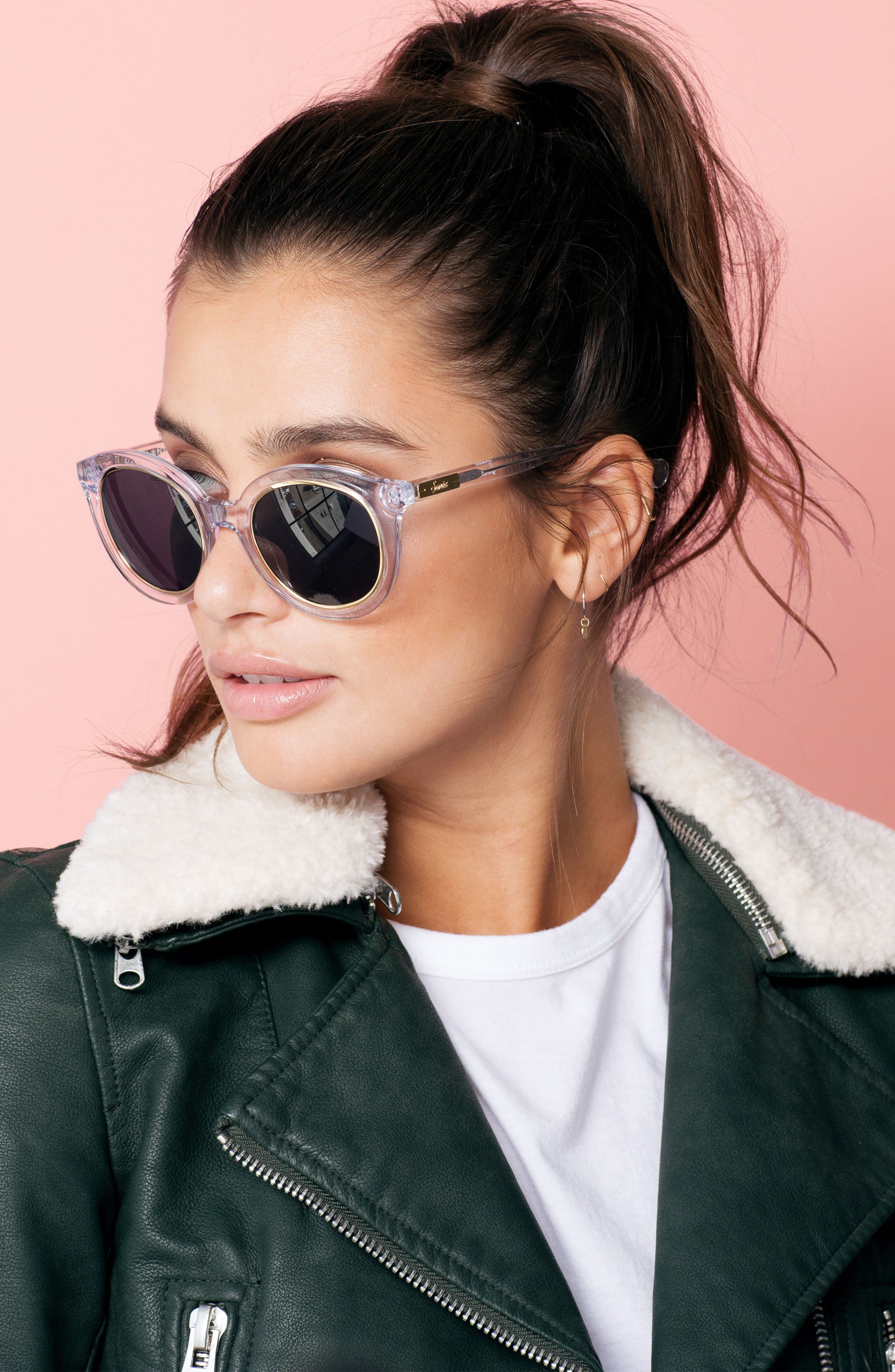 ,                             Holland 50mm Gradient Round Sunglasses,                             Alternate thumbnail 9, color,                             100