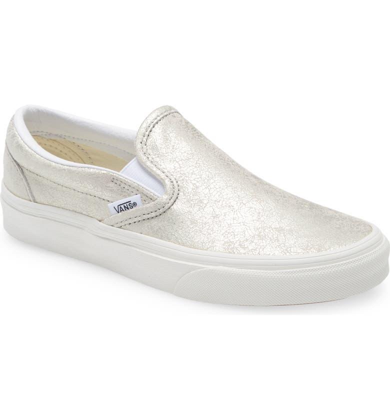 VANS Classic Slip-On Sneaker, Main, color, SILVER/BLANC DE BLANC