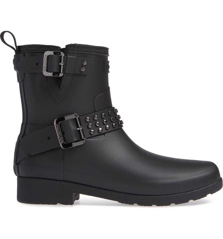 0483530177c Hunter Refined Stud Waterproof Biker Boot (Women)   Nordstrom