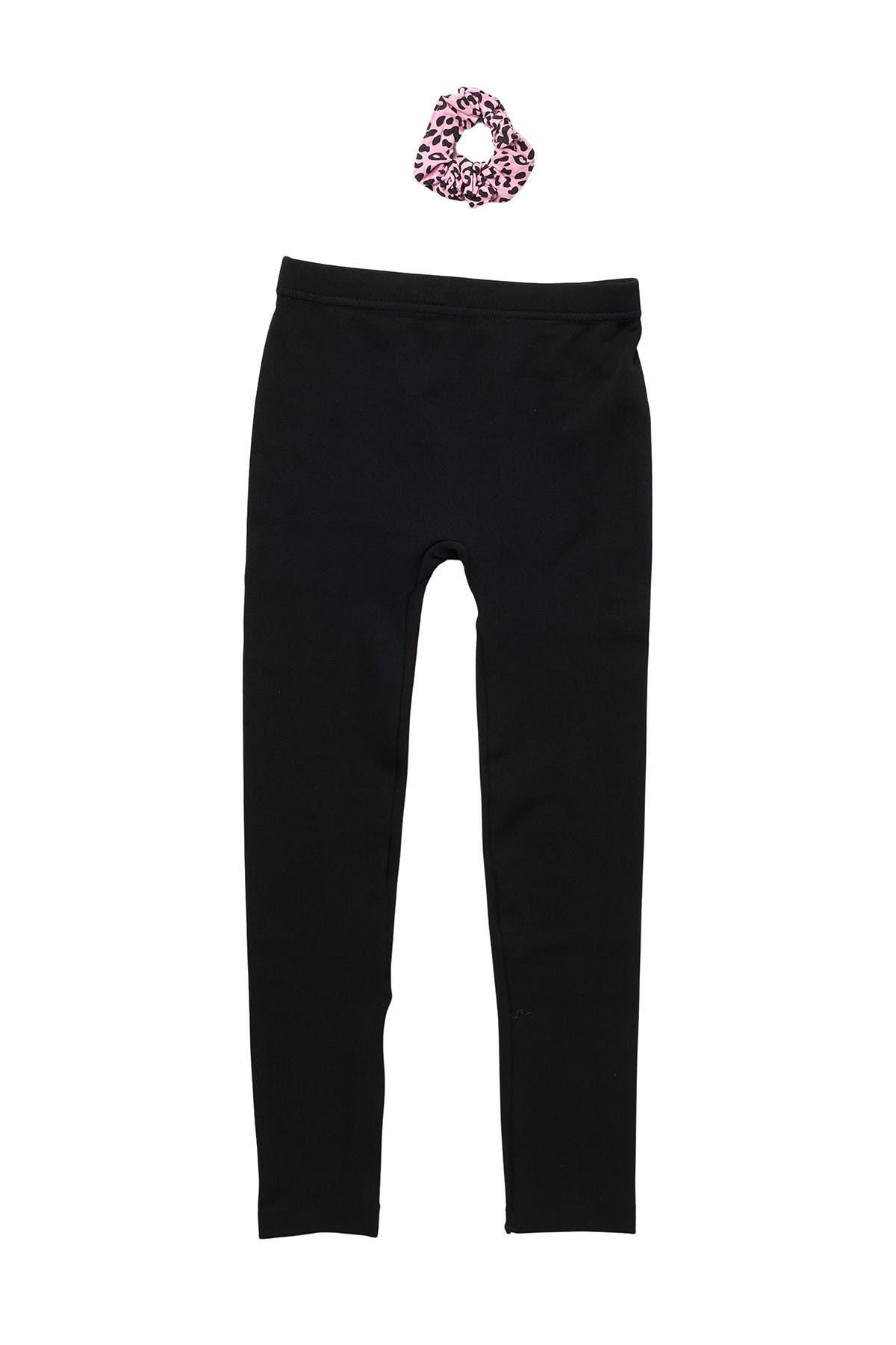 Image of CAPELLI OF NEW YORK Solid Fleece Seamless Leggings & Scrunchie