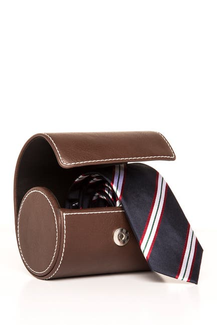 Image of Brouk & Co Brown Necktie Travel Roll