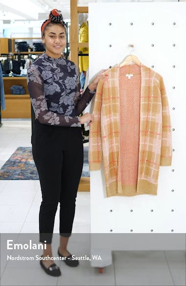 Plaid Long Cardigan, sales video thumbnail