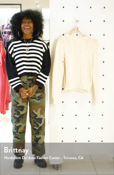 Pointelle Petal Sweater, sales video thumbnail