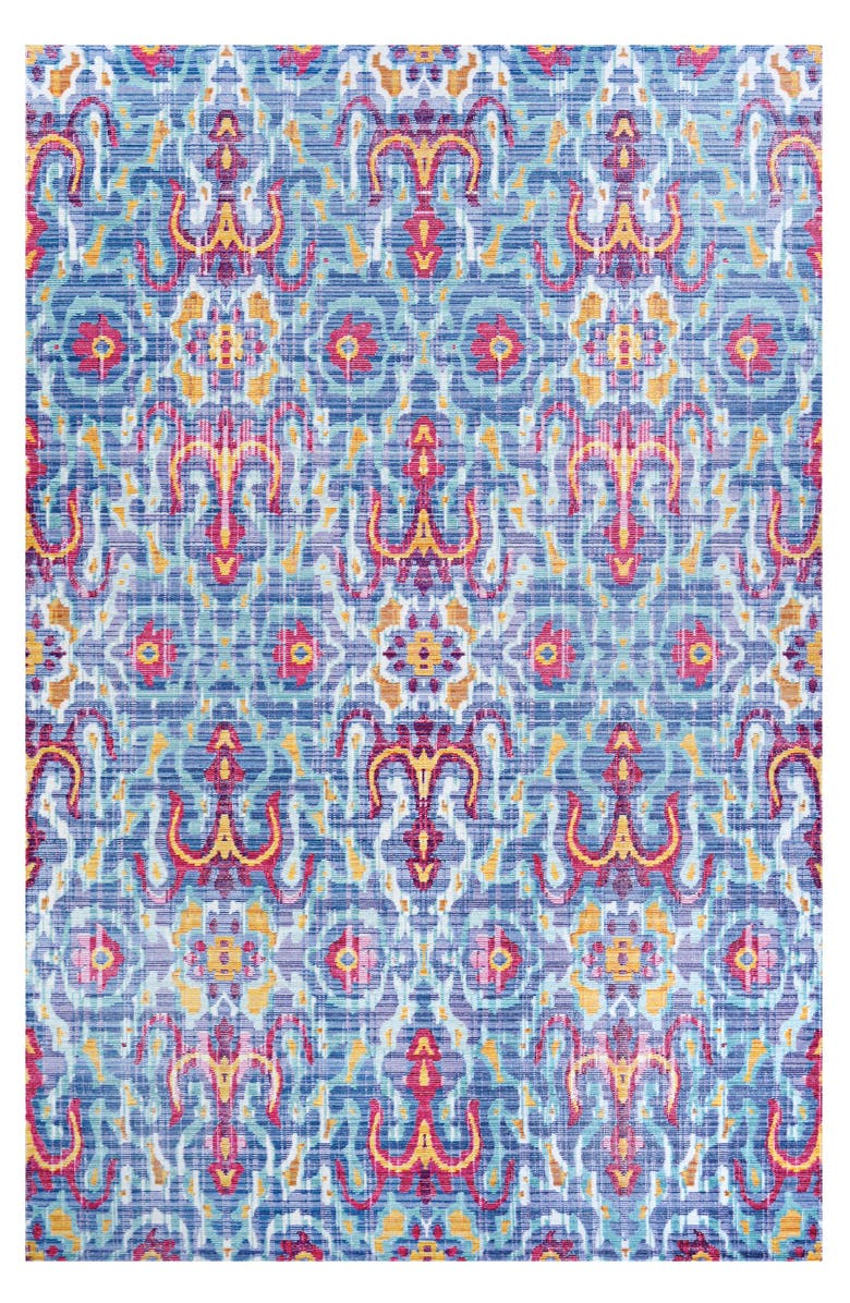 COURISTAN Xanadu Pueblo Indoor/Outdoor Rug, Main, color, AZUL