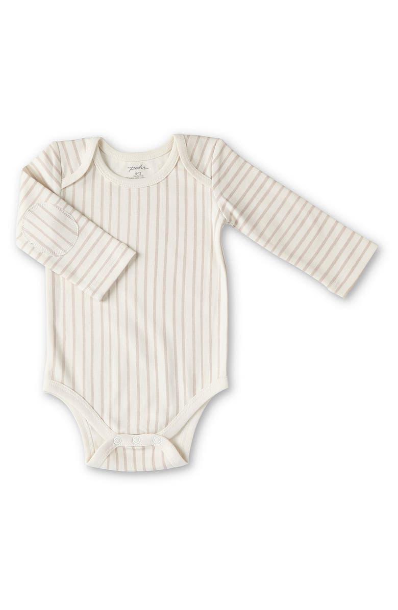 PEHR Stripes Away Bodysuit, Main, color, PETAL