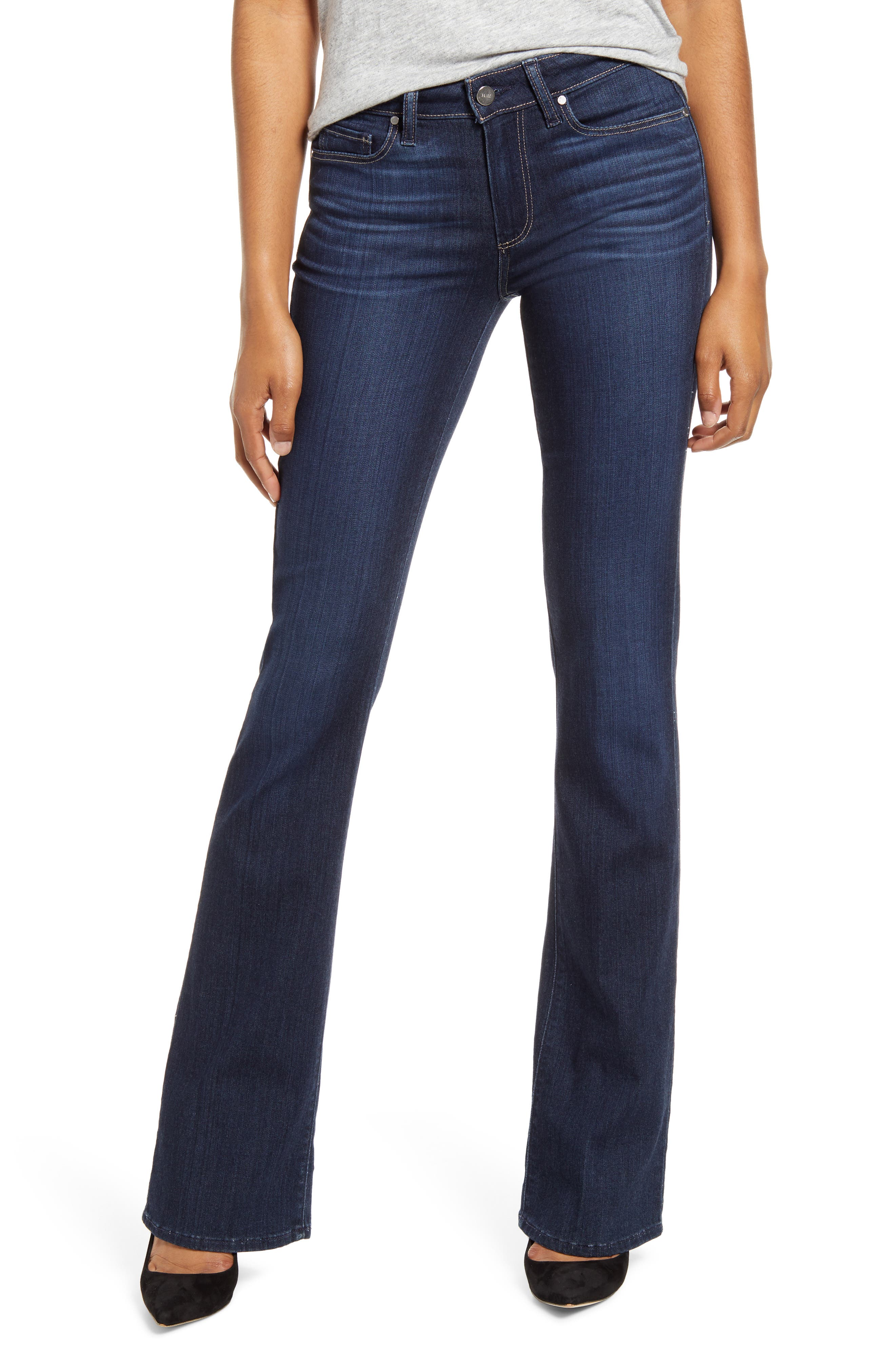PAIGE Transcend - Manhattan Bootcut Jeans (The 101)