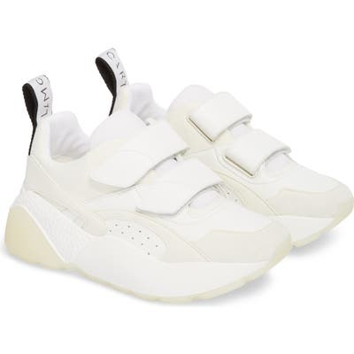 Stella Mccartney Eclypse Hook-And-Loop Sneaker, White