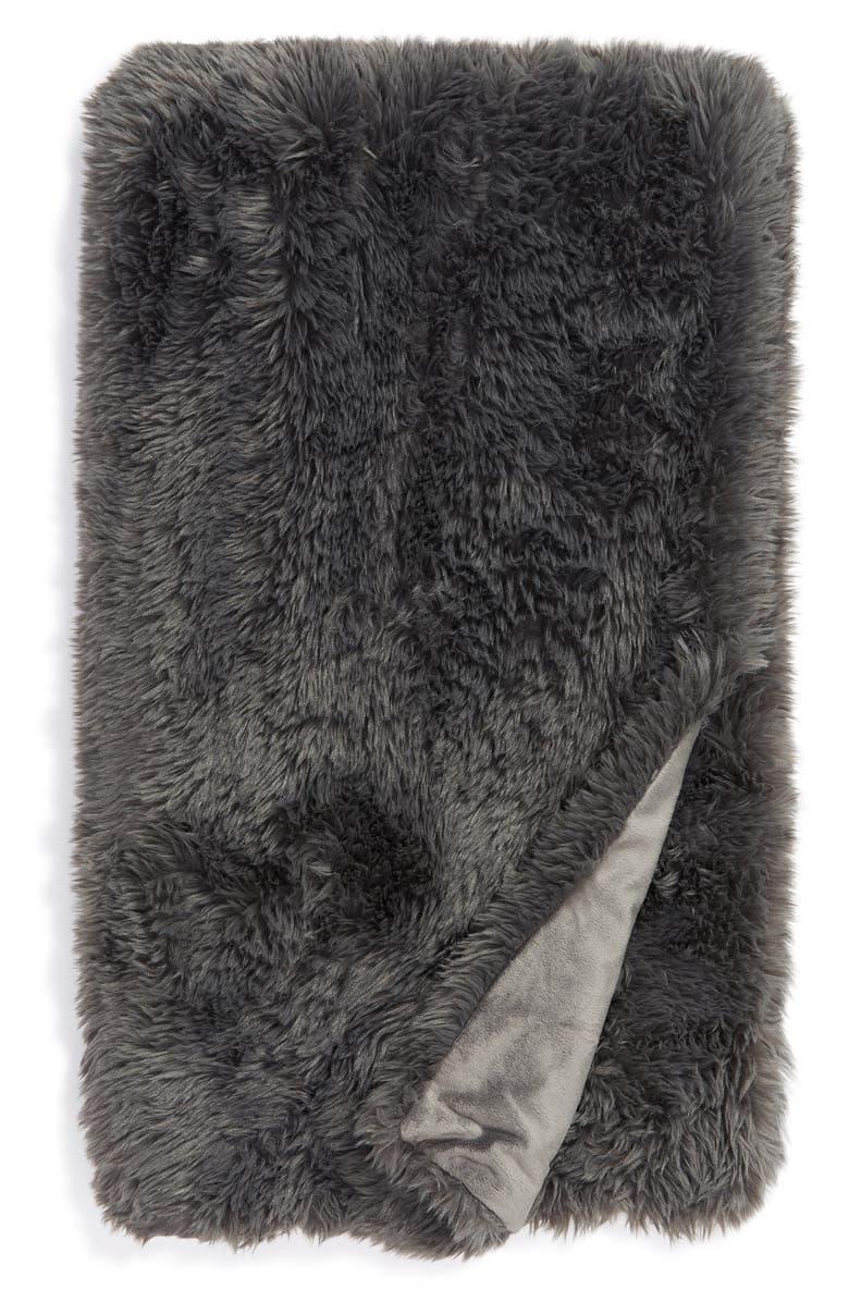 BP. Shaggy Faux Fur Throw Blanket, Main, color, 021