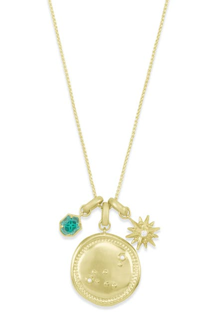 Image of Kendra Scott 14K Gold Plated Capricorn Charm Necklace