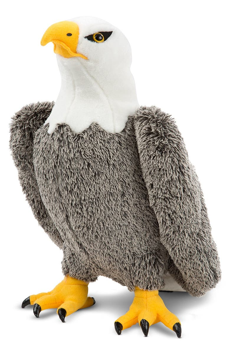 MELISSA & DOUG Plush Bald Eagle, Main, color, GREY