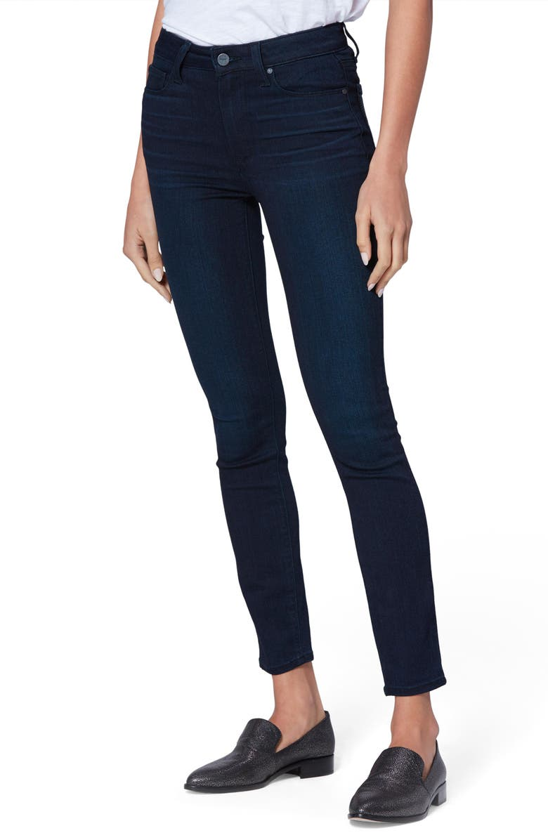 PAIGE Transcend - Hoxton High Waist Ankle Skinny Jeans, Main, color, CINEMA