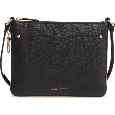 Rebecca Minkoff Jody Expandable Leather Crossbody Bag - Black