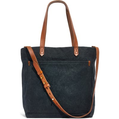 Madewell Medium Canvas Transport Tote - Black
