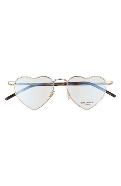 Saint Laurent 52MM LOU HEART OPTICAL GLASSES