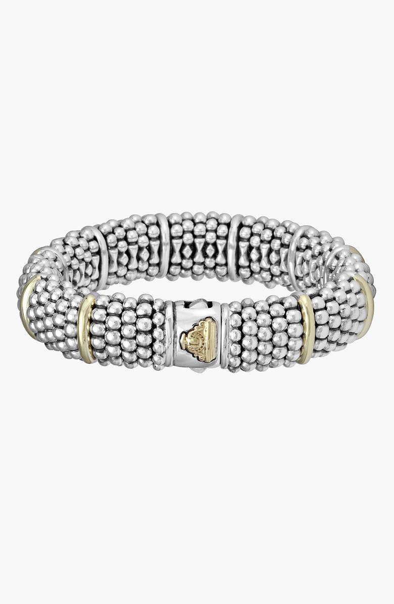 LAGOS Oval Caviar Bracelet, Main, color, SILVER/ GOLD