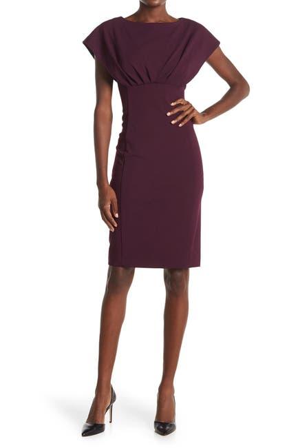 Image of Calvin Klein Dolman Sleeve Empire Waist Sheath Dress