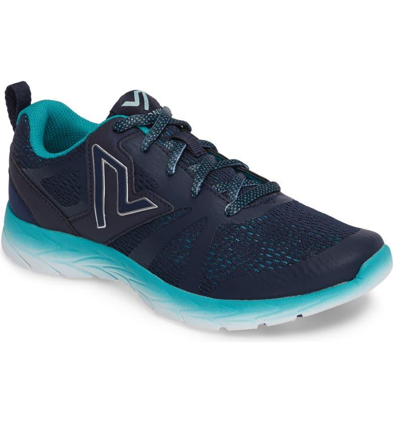 VIONIC Brisk Miles Sneaker, Main, color, BLUE TEAL FABRIC