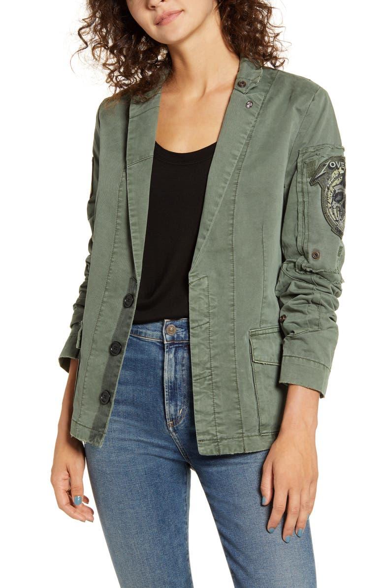 ZADIG & VOLTAIRE Virginia Grunge Jacket, Main, color, KAKI